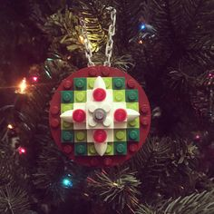 Excited to share the latest addition to my shop: Lego Christmas Ornament Lego Christmas Ornaments, Handmade Christmas, Xmas, Shop Lego, Harry Potter Diy, Lego Ideas, Brick, Nintendo, Projects To Try