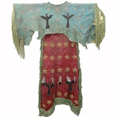 Painted Arapahoe Style Ghost Dance Dress - Back