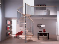 Un escalier prêt à poser en colimaçon