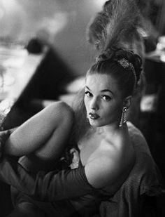 Copacabana Night Club Dancer 1953. Vintage showgirl
