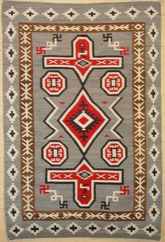 navajo rug. and yes those were symbols were used long before hitler so if it offends you get over it!!