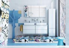 Graffity kúpeľňa... Viac náhľadov tejto vizualizácie na: Kupelnovy-manual.sk