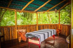 Massage room Encanta La Vida Lodge Matapalo, Osa Peninsula Costa Rica #vacation #yoga #fun #family
