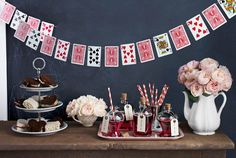 Playing card garland.