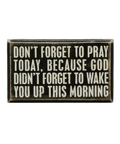 Take a look at this 'Don't Forget' Box Sign today!