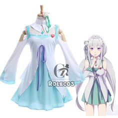 Re-Zero-kara-Hajimeru-Isekai-Seikatsu-Emilia-EMT-Cosplay-Costume-With-Headwear