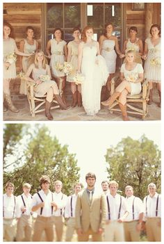 country style bridesmaid dresses | Modern Country Designs: Modern Country Texas Wedding