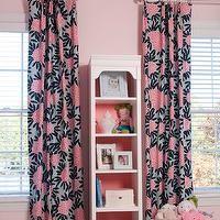 Liz Carroll Interiors - girl's rooms - soft pink walls, baby pink walls, pale pink walls, light pink walls, white wood blinds, white blinds,...
