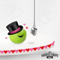 This pea may be tiny, but he has a BIG heart! Hurry over, the Valentines tunes are about to start! Listen here: http://harvestsnaps.com/singingpea/