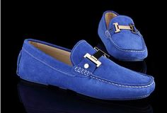 Tods Cowhide Gommino Sapphire Blue Driving Shoes