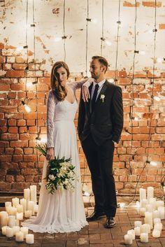 Industrial Candlelit Wedding Inspiration001                                                                                                                                                     More