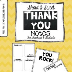 Are you looking for an easy way to get your students to express gratitude all year long? I have a quick, inexpensive solution for you—classroom thank you notes!    Simply print the note card designs (four per page) on your favorite color copy paper or card stock, cut with a paper cutter, and you're ready to roll!