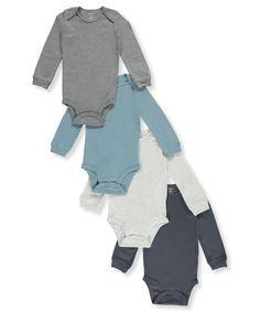Carter's Baby Boys' 4-Pack Long Sleeve Original Bodysuits 18 Months