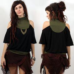 "TOP LILOO ""SWEAT"" •• Pixie Fairy Tribal Boho Bohemian Look ❃ (26€)"