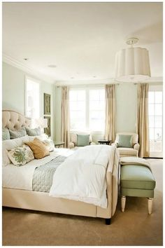 40 beautiful and calm green bedroom decoration ideas 36 » Homedecorsidea.info
