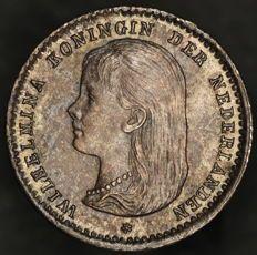 Nederland - 10 cent 1892 Wilhelmina - zilver