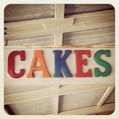 #cakes #signage #typography #portfairy #colours #holiday by pmah1977 http://ift.tt/1UokfWI