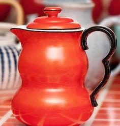 red teapot  I WONDER IF IT IS CZECH?