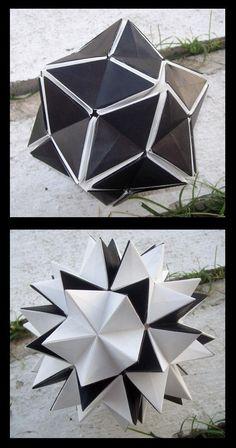 how to make a revealing flower origami flexagon template hexahexaflexagon Instruções Origami, Origami And Kirigami, Origami Dragon, Paper Crafts Origami, Origami Design, Origami Stars, Paper Crafting, Origami Folding, Dollar Origami