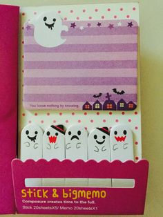 Purple Ghost Halloween Sticky Notes by GoatGirlMH on Etsy