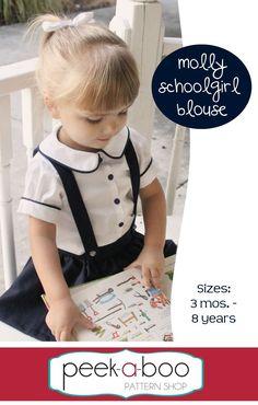 Molly Schoolgirl Blouse PDF Sewing Pattern