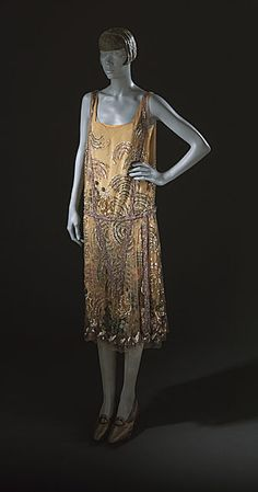 Evening Dress 1926, French, Made of silk tulle