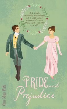 Taken from an illustrated map of the key locations from Jane Austen's famous book - Pride and Prejudice. Darcy and Elizabeth dance at the Netherfield Ball. Ohn Mar Win