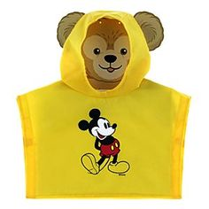 Duffy the Disney Bear Rain Poncho | Disney StoreDuffy the Disney Bear Rain Poncho - Keep Duffy dry by having him hibernate underneath this Rain Poncho. Mickey joins his travelling companion whose face peers out from under the protective hood while his ears brave the elements.