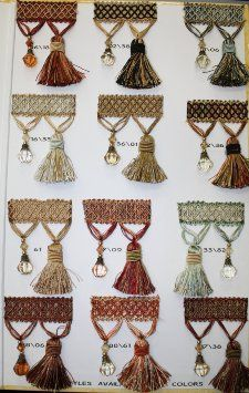 "Amazon.com: Beaded Tassel Fringe Trim 3.5"" Style# Bf 4027 16/36 Latte/ivory/gold Color, Sold By the Yard"