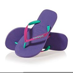 www.flipflopsuk.co.uk  Havaianas Top Mix Flip Flops - Purple/Raspberry Rose!  #Flipflops #Espadrilles