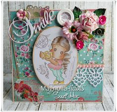 Suzi Mac Creations : Magnolia-licious DT #4 Pink Green orGold