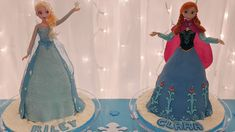 How to create an Elsa from Frozen cake Anna Frozen Cake, Anna Cake, Elsa Frozen, Disney Frozen, Frozen Birthday Invitations, Frozen Birthday Party, Birthday Cake, Birthday Ideas, Cake Decorating Techniques