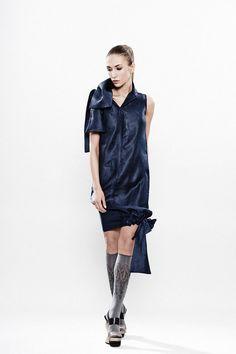 Feminine summer dress / Stylish blue tunic / by MariaQueenMaria