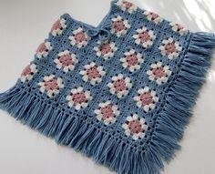 Resultado de imagen de poncho em croche squares