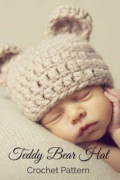 Crochet PATTERN - Crochet Bear Hat Pattern - Baby Bear Hat - Crochet Hat…