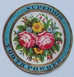 SUPERIOR Vintage Tooth Powder Bottle Label