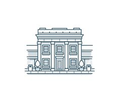Dribbble - Bank Icon by Scott Tusk