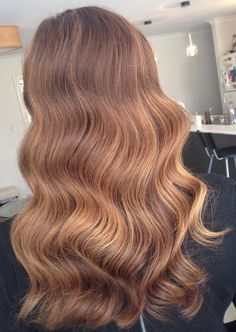 Salted caramel and burnt toffee glamour waves. Pretty. Hair by Sarah O'Kane.