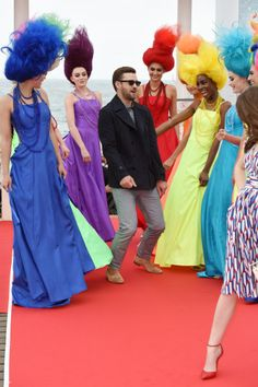 'Trolls' Photocall Justin Timberlake showed off his moves.