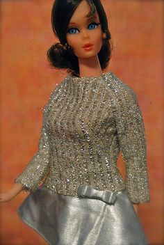 Had this outfit!!!!  Does that mean I had a brunette Barbie too??  ......Talking Barbie - Brunette