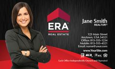Red and Black ERA Real Estate Business Card