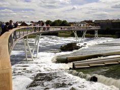 Castleford Riverside Masterplan, Landmark bridge architecture design in united kingdom