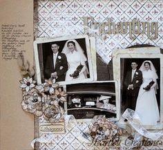 vintage wedding layout by Jenny Garlick