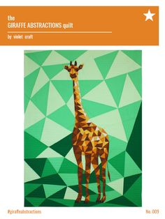 The Giraffe Abstractions Quilt Pattern PDF Download — Violet Craft