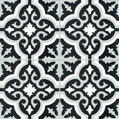 Spaanse keramisch patroontegel 20x20 formaat, zeer onderhoudsvriendelijk, kras- en vlekbestendig en kan gebruikt worden zowel als vloer- of  wandtegel. Deze tegel wordt veel geplaatst als vloertegel in keukens, badkamers of inkomhal. Als wandtegel kan hij perfect gebruikt worden als spatwandtegel in de keuken. Rue, The Mansion