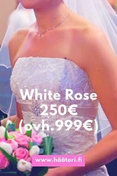 White Rose wedding dress hääpuku häämekko ovh.999€, kerran käytetty nyt 250€!