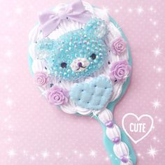 espejo Kawaii Phone Case, Decoden Phone Case, Girl Phone Cases, Mirror Crafts, Diy Mirror, Cute Crafts, Diy And Crafts, Resin Crafts, Creative Art