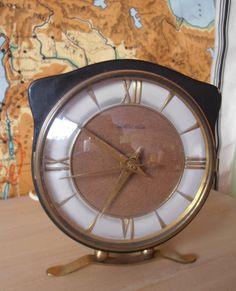 Mid century table clock Hollandia Dutch by Veryodd on Etsy, $99.00