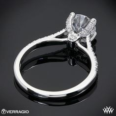 Verragio 4 Prong Pave Diamond Engagement Ring | 1805