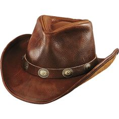 94614252142b1 Add this stylish men s leather cowboy hat to your look. Henschel American  Made full grain